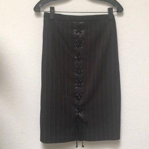 ♥️Suited Pencil Skirt w/Lace up BCBG